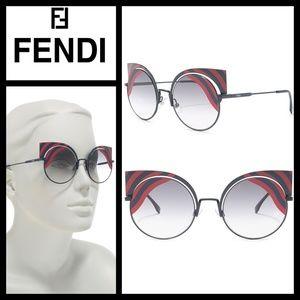 FENDI 53mm Cat Eye Red Sunglasses NWT